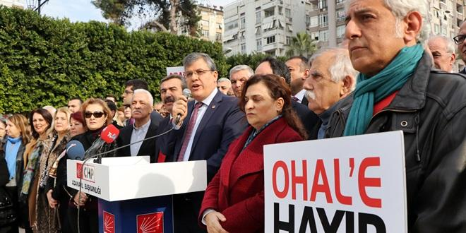 CHP OHAL VE KHK'LER İÇİN ALANLARDA