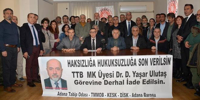 """""""YAŞAR ULUTAŞ, GÖREVİNE İADE EDİLMELİ"""""""
