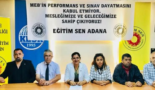 """""""MEB'İN PERFORMANS VE SINAV DAYATMASINI KABUL ETMİYORUZ"""""""