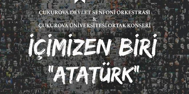 """ADANA'DA """"ATATÜRK'Ü ANMA KONSERİ!"""""""