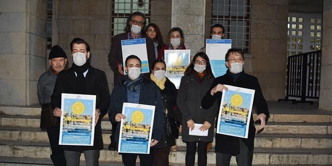 AVUKATLARDAN HAVA KİRLİLİĞİNE MASKELİ PROTESTO