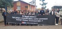 """""""ALADAĞ'I UNUTMA"""" PANKARTI AÇILDI"""
