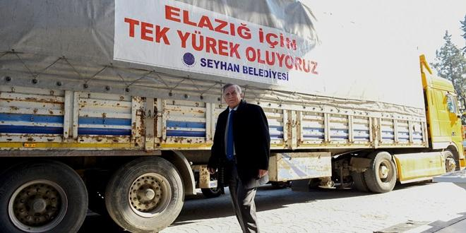 SEYHAN'DAN ELAZIĞ'A YARDIM ELİ
