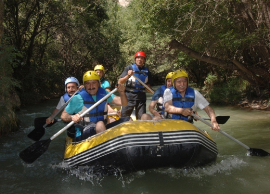 Başkanların rafting keyfi