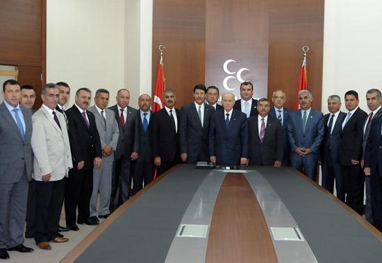 Adana MHP'den Bahçeli'ye tam destek