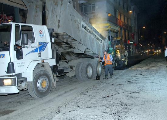 Yollara asfalt kaplama