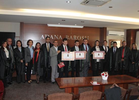 Adana Barosuna 4 yeni üye