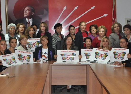 """CHP'den """"Kelebekler Özgürdür"""" kampanyası"""