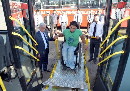 Belediye otobüsleri engelsiz oldu