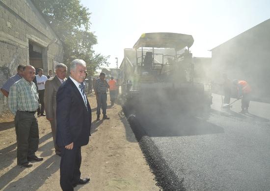 Başkan asfalt denetiminde