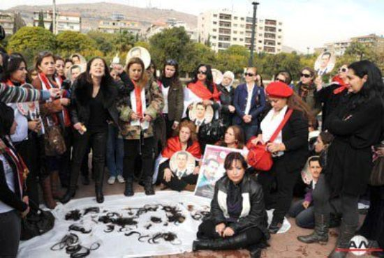 Suriyeli kadınlardan ilginç eylem!