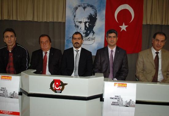 """TMMOB'dan  """"Yerel Yönetimler ve Kentsel Dönüşüm"""" paneli"""
