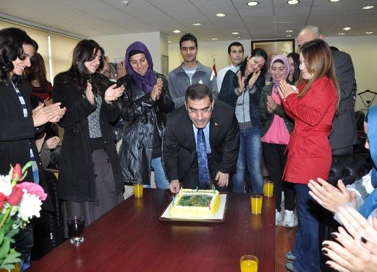 Çelikcan'a doğum gününü kutlaması