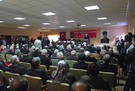 Kozan'da Milli Anayasa Forumu