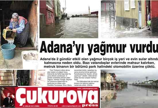 Bakır: Adana yine sular altında