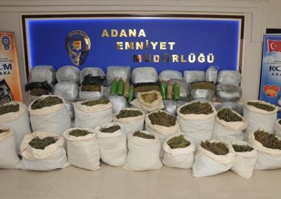 29 operasyonda 378 kilo uyuşturucu