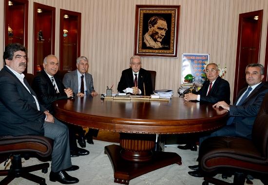 Aldırmaz'ın ziyaretçileri eski başkanlar