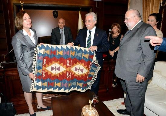 Lüksenburg Büyükelçisinden Adana ziyareti