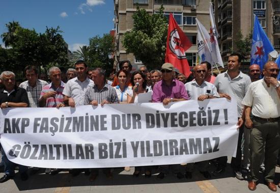 Adana'da gözaltılara protesto
