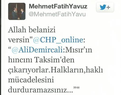 AKP'li Vekil Danışmanının Aymazlığı