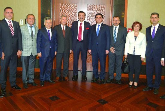ATO'dan, Hisarcıklıoğlu'na destek ziyareti