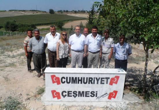 Karakuyu mezarlığına Cumhuriyet çeşmesi