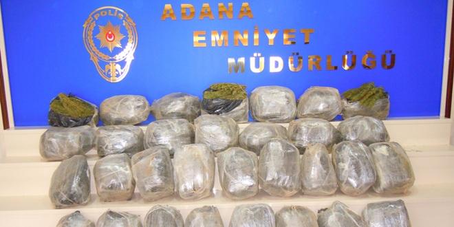Adana polisinden Uyuşturucu ve Hap Operasyonu