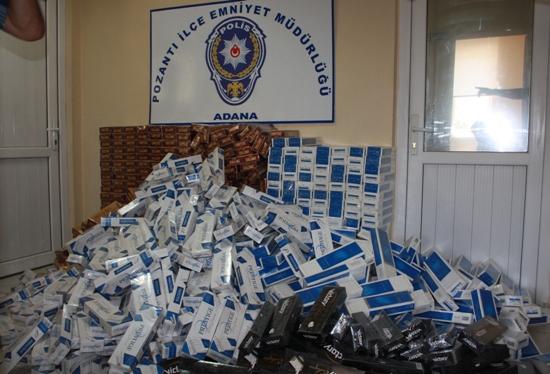Pozantı'da Kaçak Sigara Operasyonu