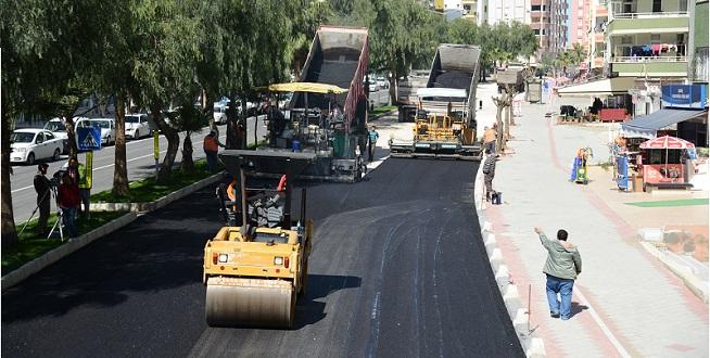 Demirel Bulvarı'nda çift katlı asfalt