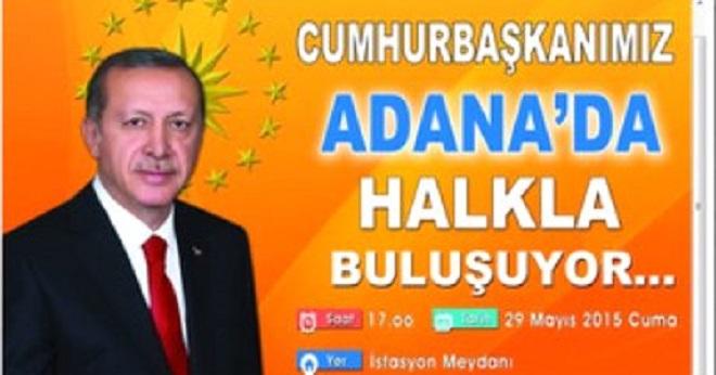 YSK'dan Adana Miting Kararı