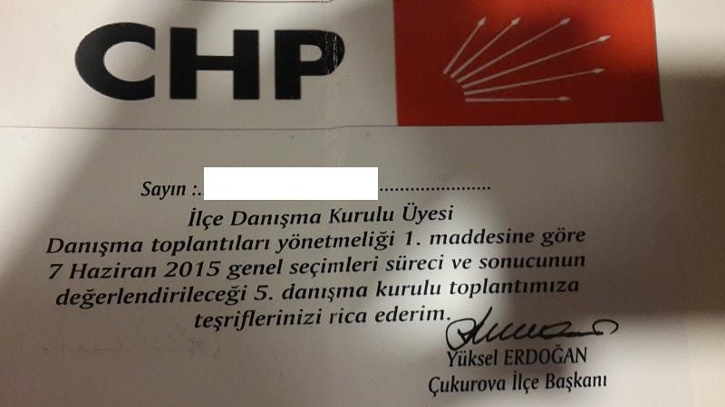 CHP Çukurova Danışma Toplantısı