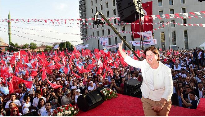Elif Doğan Türkmen Malatya Mitinginde