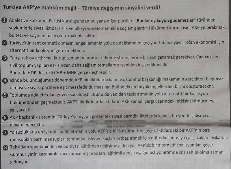"""""""AKP'ye Mahkum Değiliz"""""""