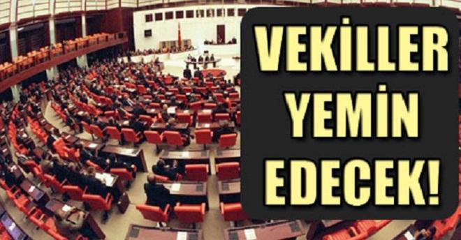 Milletvekilleri Yemin Edip Göreve Başlıyor