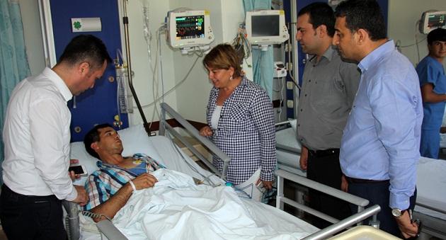 CHP'den madenci ailesine ziyaret
