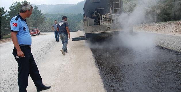 Kızıldağ yayla yoluna asfalt