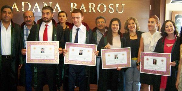 Adana Barosu'nun Genç Avukatları