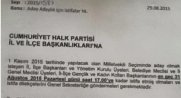CHP İl Başkanlarında İstifada Son gün 31 Ağustos