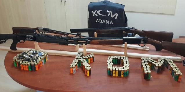 Adana'da 50 Av Tüfeği 9 Tabanca