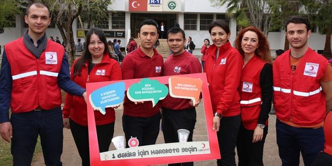 ÇÜ'de Kan Bağışı Kampanyası