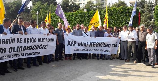 ADANA'DA İHRAÇLARA PROTESTO EYLEMİ