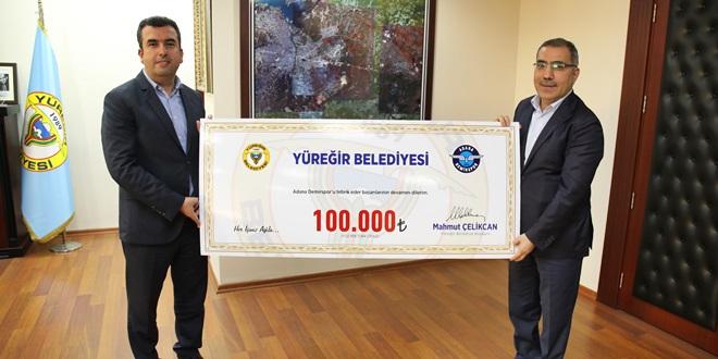 ÇELİKCAN'DAN ADS'A 100 BİN LİRA PRİM