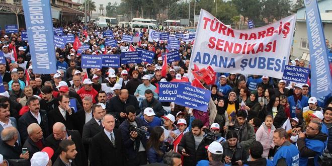 ADANA İNCİRLİK ÜSSÜ'NDE YILLAR SONRA İŞÇİ EYLEMİ