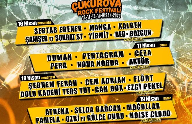 ÇUKUROVA ROCK FESTİVALİ 16-19 NİSAN'DA ADANA'DA