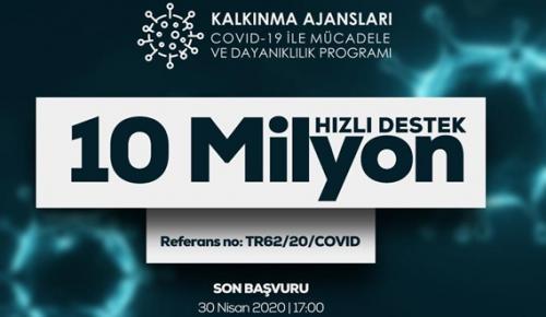 ÇKA'DAN DAVİD-19 İLE MÜCADELEYE 10 MİLYONLUK DESTEK