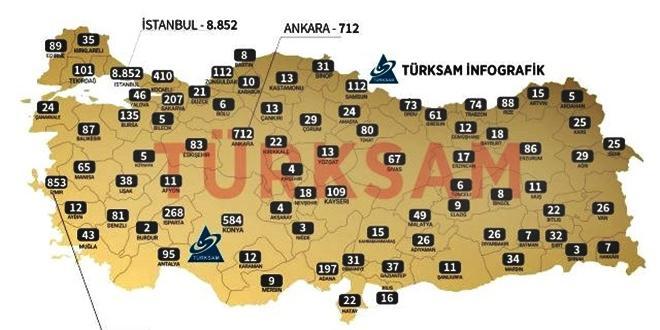ADANA TÜRKİYE'DE EN ÇOK KORONAVİRÜS GÖRÜLEN 10 İL ARASINDA
