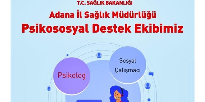 ADANA'DA 6 MERKEZDE PSİKOSOSYAL DESTEK HİZMETİ