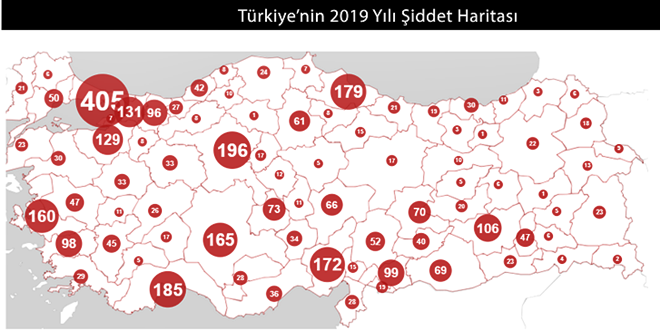 TÜRKİYE'DE ŞİDDET HARİTASINDA ADANA İLK 5'TE