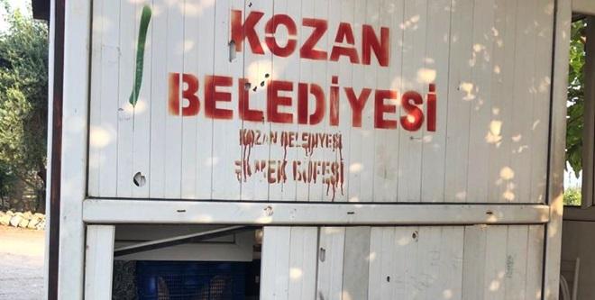 KOZAN'DA EKMEK BÜFELERİNE SALDIRI