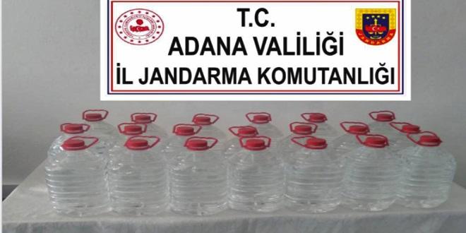 YUMURTALIK'TA 100 LİTRE KAÇAK İÇKİ